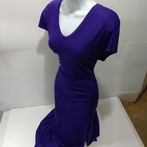 VENUS maxi dress S tall sexy full length purple